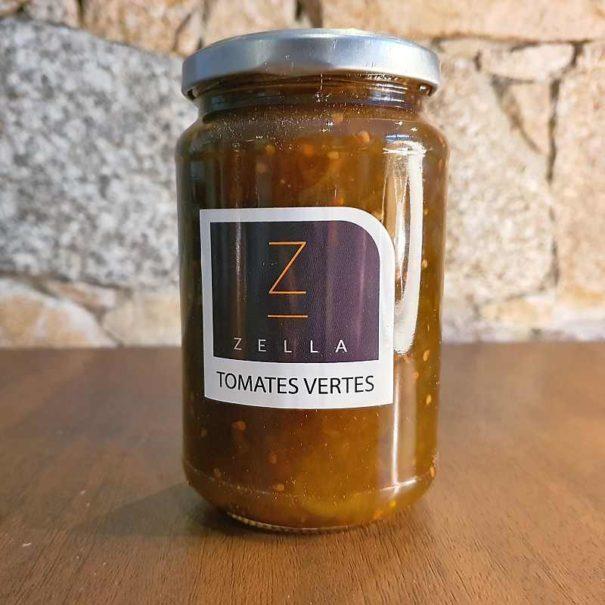 Pot de confiture de tomates vertes